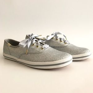 4a6b30352fb4 Keds Shoes - Keds for Kate Spade Glitter Silver Shoes Size 4
